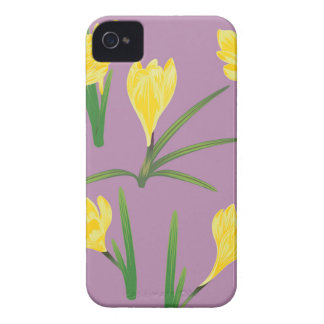 Yellow Crocus Flowers iPhone 4 Case-Mate Case