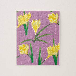 Yellow Crocus Flowers Puzzle
