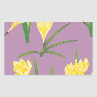 Yellow Crocus Flowers Sticker
