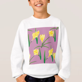 Yellow Crocus Flowers Sweatshirt