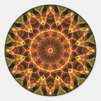 Yellow Crocus kaleidoscope Classic Round Sticker