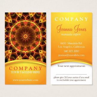 Yellow Crocus mandala appointment card