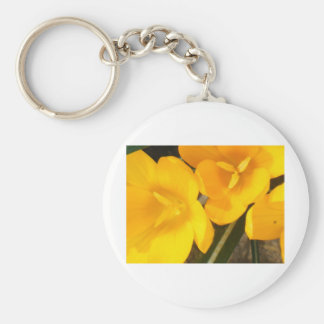 yellow crocus phone and accessorie covers basic round button keychain