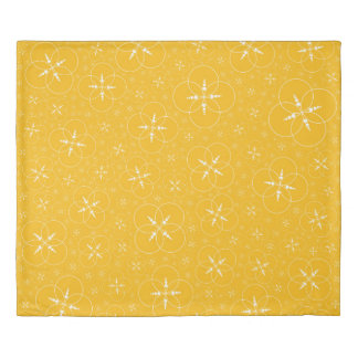 Yellow Crop Circles Duvet Cover