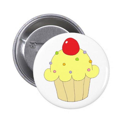 Yellow Cupcake Pin