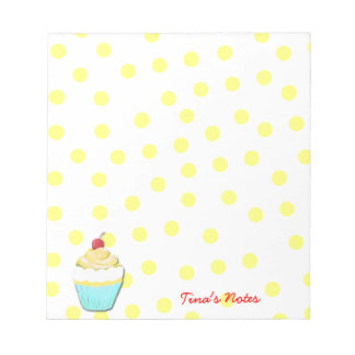 Yellow Cupcake Notepad