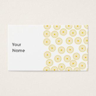 Yellow Cupcake Pattern. Business Card