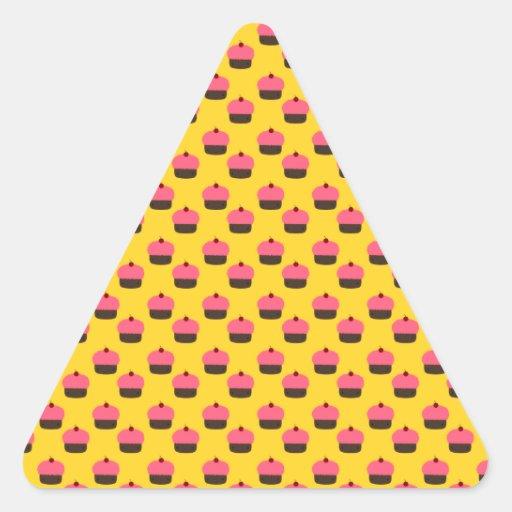 Yellow cupcake pattern sticker