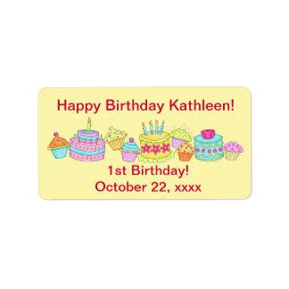 Yellow Cupcakes /Cake Happy 1st Birthday Custom