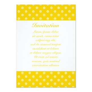 "Yellow + Custom Color Flower Dot 5"" X 7"" Invitation Card"
