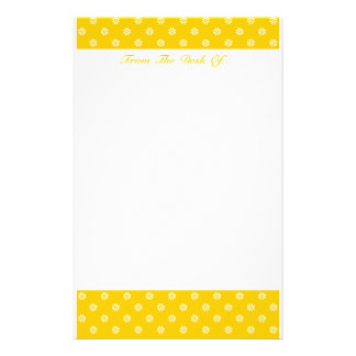 Yellow + Custom Color Flower Dot Stationery Paper