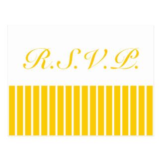 Yellow + Custom Color Narrow Stripes Postcard