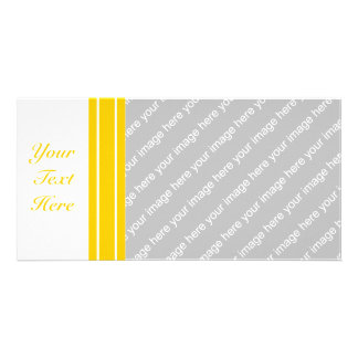 Yellow + Custom Color Pin Stripes Photo Greeting Card