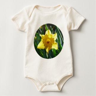 Yellow Daffodil 02.2_rd Baby Bodysuit