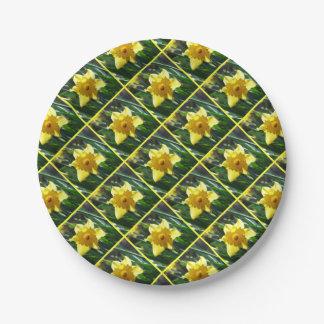 Yellow Daffodil 02.3 Paper Plate