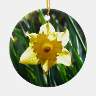 Yellow Daffodil 03.0.g Ceramic Ornament