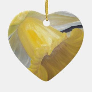 Yellow Daffodil Ceramic Ornament