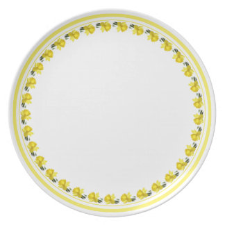 Yellow Daffodil - Floral Photography Cut Out Plate