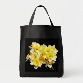 Yellow Daffodil Grocery Tote Bag