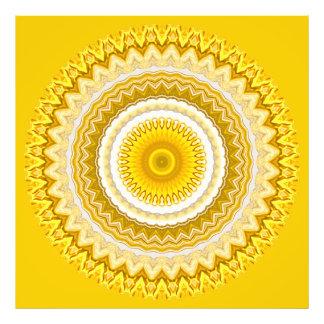 Yellow Daffodil Mandala Pattern (XL) Photographic Print