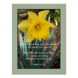 Yellow Daffodil ~ Psalm 121:7,8 Poster