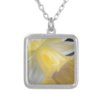 Yellow Daffodil Silver Plated Necklace