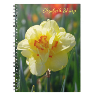 Yellow Daffodil Spiral Notebooks