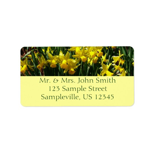 Yellow Daffodils I Cheery Spring Flowers Label