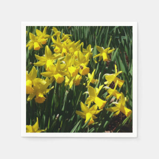 Yellow Daffodils I Cheery Spring Flowers Paper Napkins