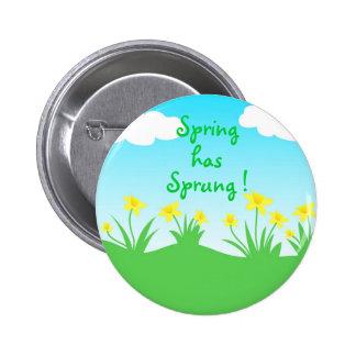 Yellow daffodils - Pin button