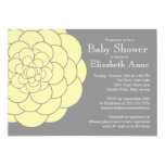 Yellow Dahlia Bloom Floral Neutral  Baby Shower