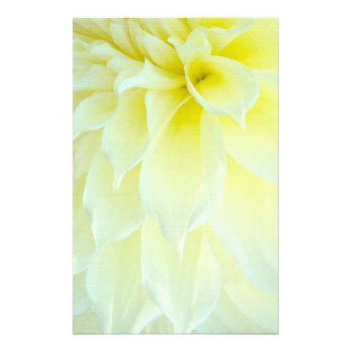 Yellow Dahlia Flower Stationery