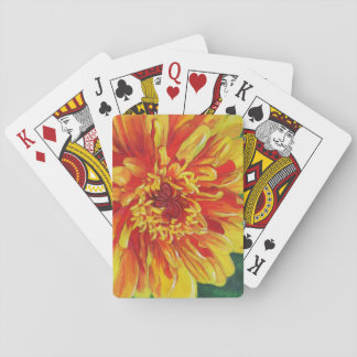 Yellow Dahlia Playing Cards