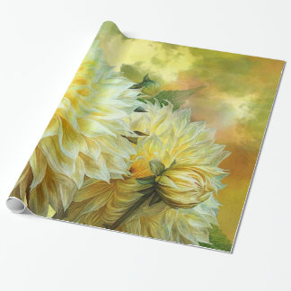 Yellow Dahlias Art Gift Wrap