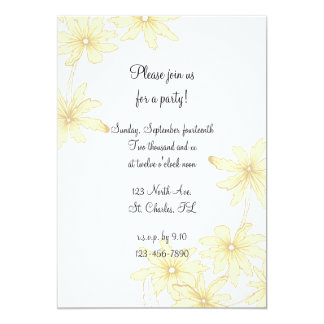 Yellow Daisies All Occasion Party Invitation