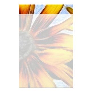 Yellow Daisies Autumn Sunflowers Flowers Art Custom Stationery