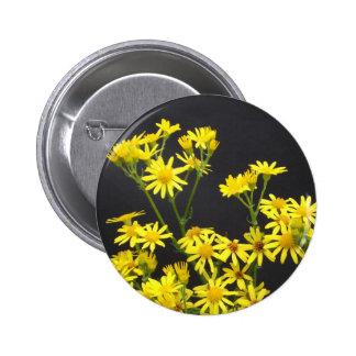 Yellow Daisies Button
