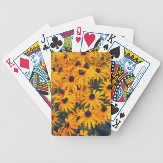 Yellow Daisies Flower-lovers Floral Art Poker Deck