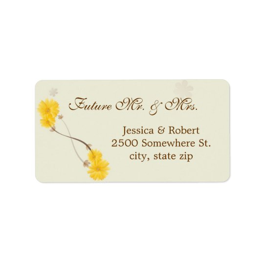 Yellow Daisies Label
