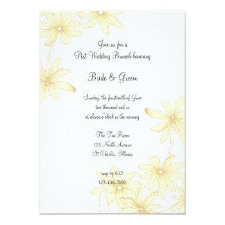 Yellow Daisies Post Wedding Brunch Invitation