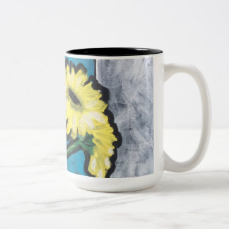 Yellow Daisies Two-Tone Coffee Mug