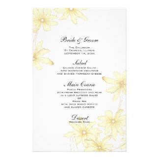 Yellow Daisies Wedding Menu