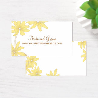Yellow Daisies Wedding Website Card