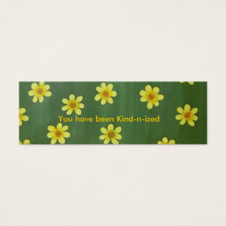 Yellow daisies, You have been kind-n-ized cards