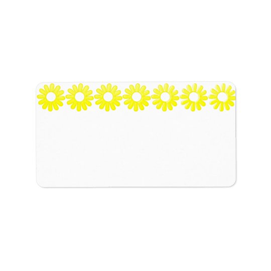 Yellow Daisy Address label