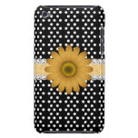 Yellow Daisy and White Polkadot Case-Mate Case iPod Touch Cases