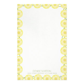 Yellow Daisy Chain Stationery/Letterhead Stationery