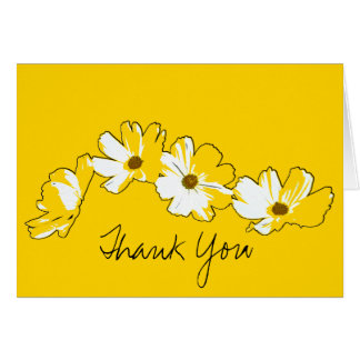 Yellow Daisy Chain Thank You Card