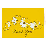 Yellow Daisy Chain Thank You Note Card
