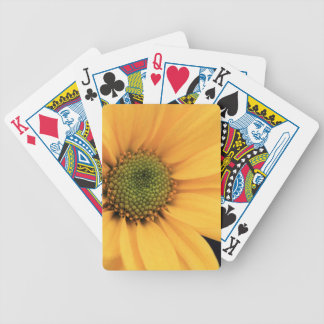 Yellow Daisy Close Up Bicycle Playing Cards